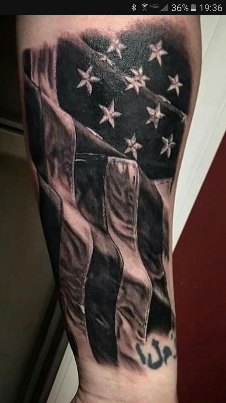 50 most amazing flag tattoo design ideas. Black Bedroom Furniture Sets. Home Design Ideas