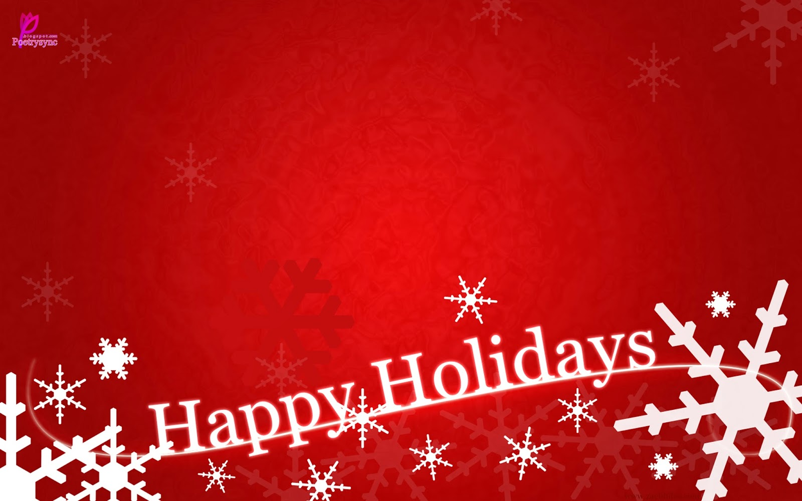 Happy Holidays Red Greeting Card Picture