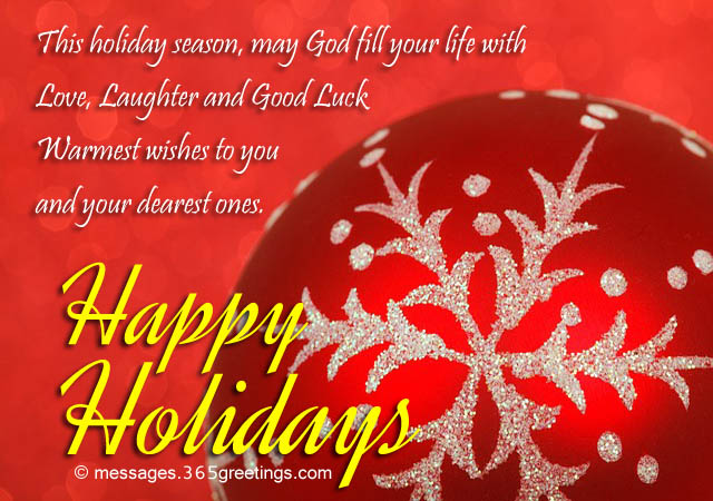 Happy Holidays Warmest Wishes To You With Starflake Red