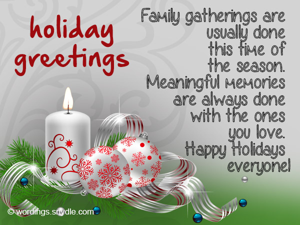 Happy holidays wishes with silver candle and balls image m4hsunfo