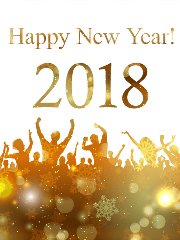 Perfect Happy New Year 2018 Ecard