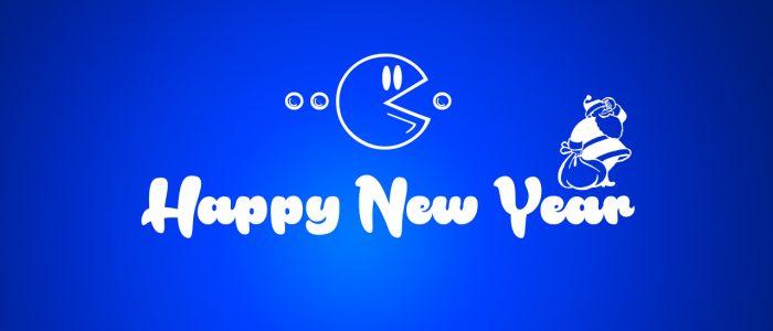 happy new year pacman