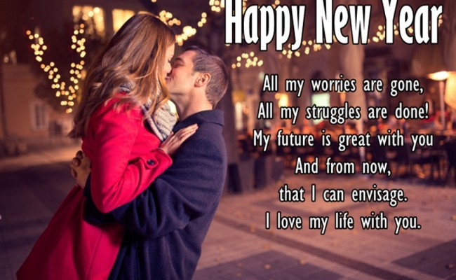 happy new year romantic couple picture