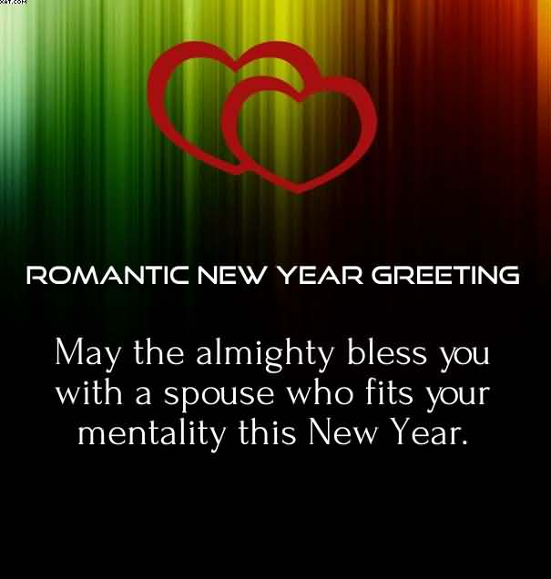 happy new year romantic new year greeting card