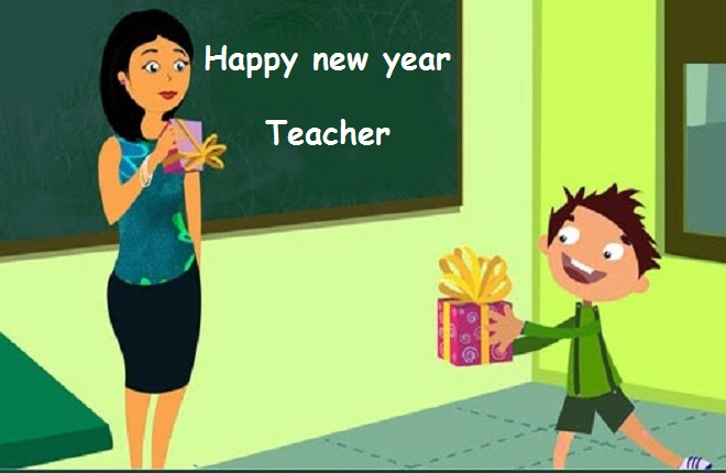 happy new year wishes for teacher image