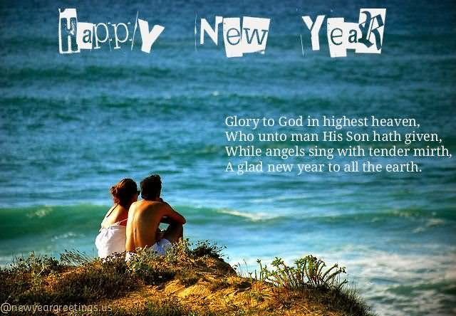 happy new year wishes with couple picture
