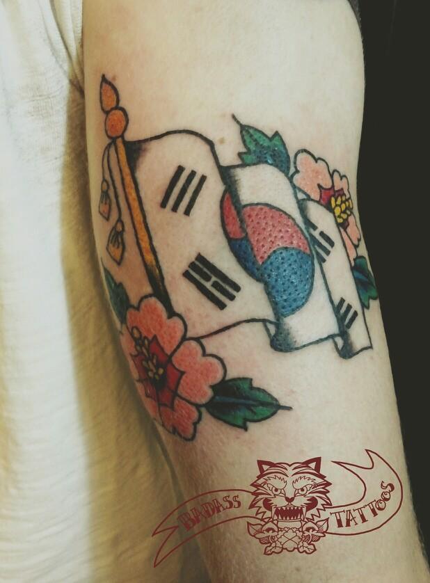 50 Most Amazing Flag Tattoo Design Ideas