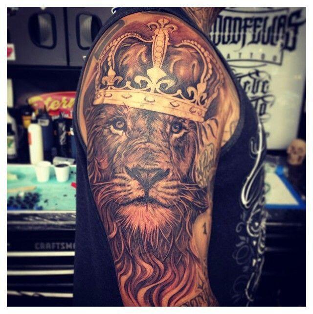 lion king tattoo on shoulder. Black Bedroom Furniture Sets. Home Design Ideas