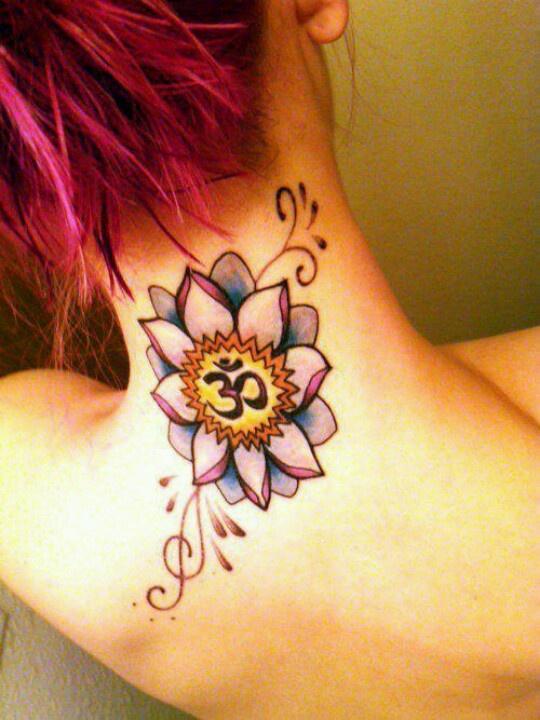 Lotus Tattoo On Om Hinduism Symbol Tattoo On Neck