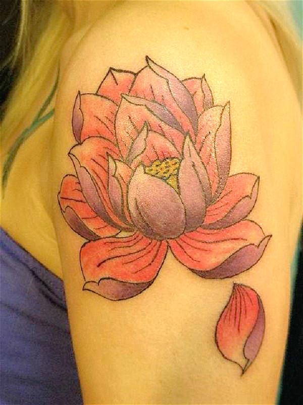 Lotustattoo Flower Spine