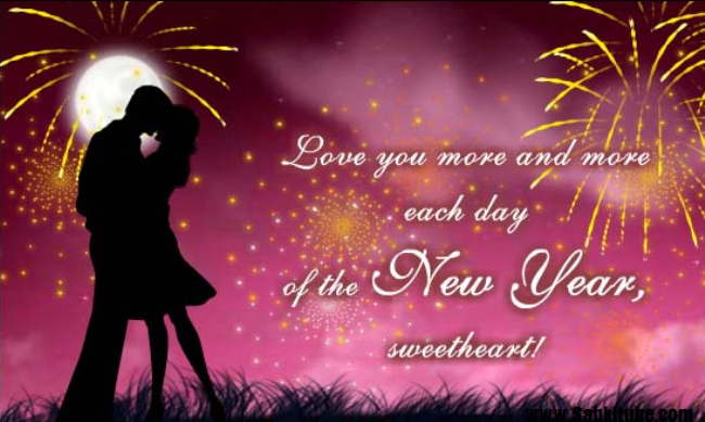 Love You More ANd More Each Day Of The New Year Sweetheart