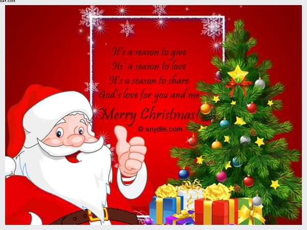 Merry Christmas Santa claus with gifts image