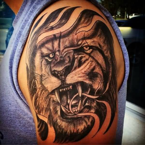 Tattoo Designs For Male Upper Arm: 90 Best Lion Tattoo Design Ideas On Askideas