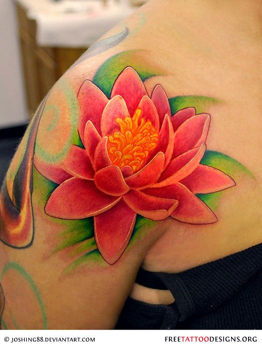 80 most beautiful lotus flower tattoo design ideas for Lotus flower tattoo on shoulder