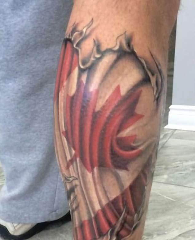 Small Canada Tattoo: 50 Most Amazing Flag Tattoo Design Ideas