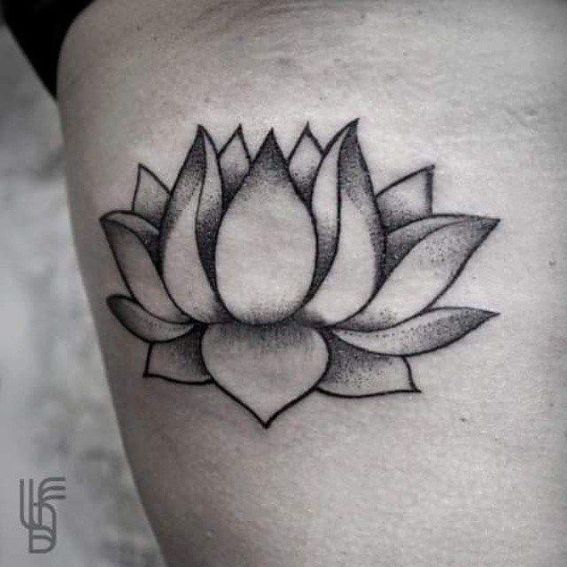 Simple Lotus Tattoo Design Idea