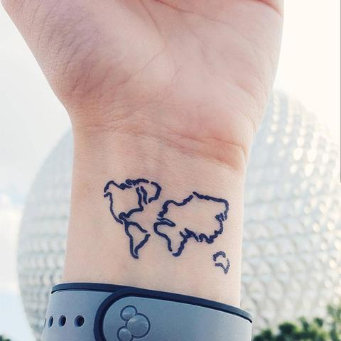 Small World Map Travel Tattoo On Wrist on small climate map, small map of europe, small black and white world maps, small map of india, small map of egypt, small map of iraq, small map of canada, small map of africa, 1080p end of the world, small map of finland, small map of america, small map of france, small map of asia, rug of the world, small globe of the world, small map of california, small world map labeled, small map of thailand, small map of iran, small blank world map,