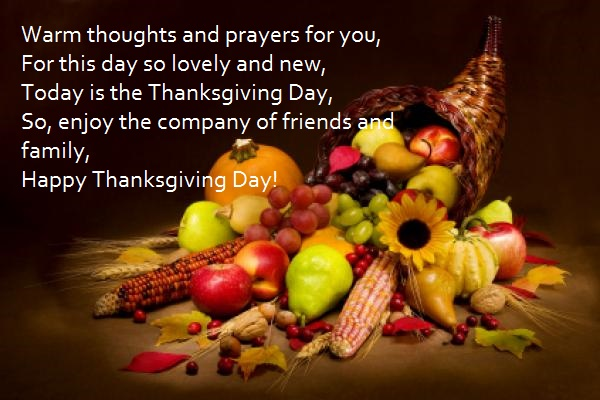 today is the thanksgiving day so enjoy the company of friends and family happy thanksgiving day