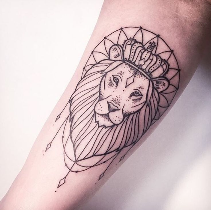 Tribal Outline Lion Tattoo On Forearm This lion outline with the correct zodiac map of leo. tribal outline lion tattoo on forearm