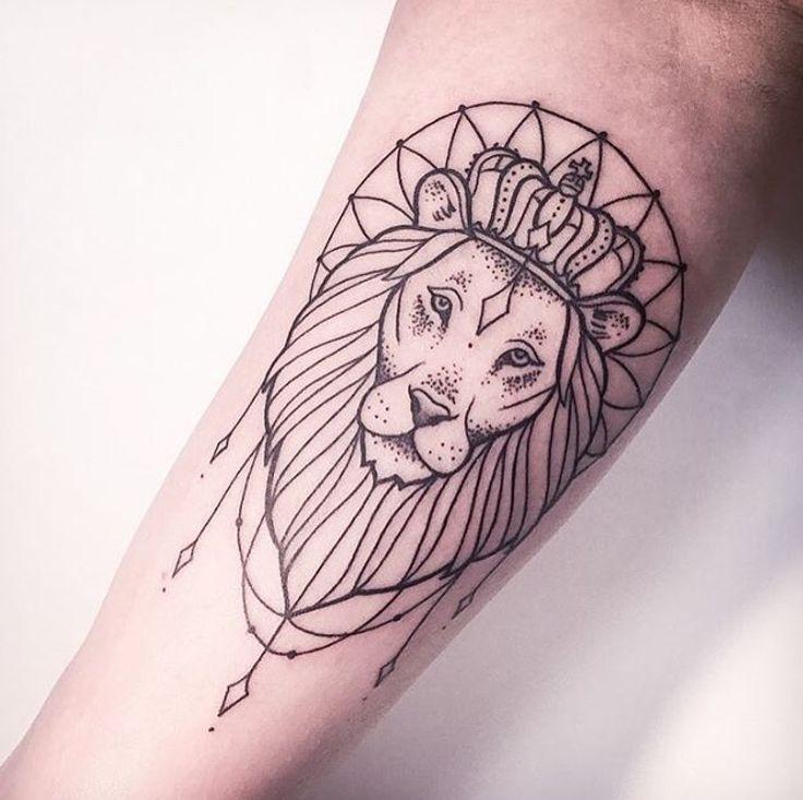 Best 25 Lion Tattoo Design Ideas On Pinterest: Tribal Outline Lion Tattoo On Forearm