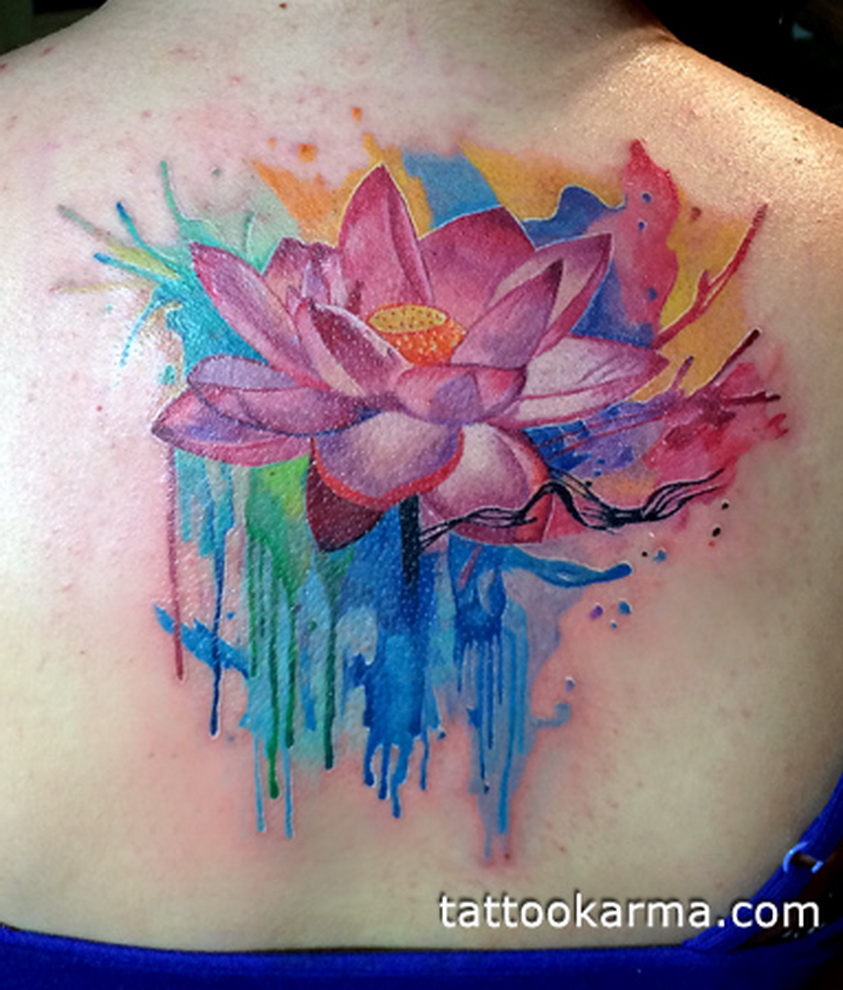 42 Watercolor Lily Tattoos Collection: 80+ Most Beautiful Lotus Flower Tattoo Design Ideas