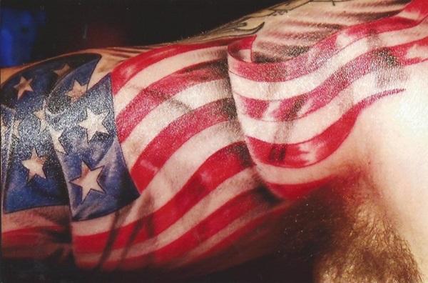50 Most Beautiful Flag Tattoo Design Ideas