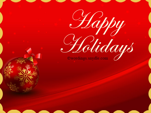 White happy holidays text on red background greeting card picture m4hsunfo