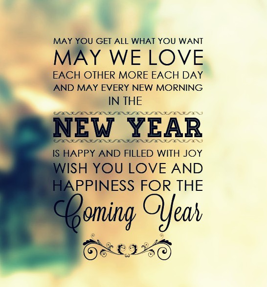 Wish you love and happiness for the coming year Happy New Year