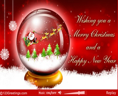 60 most amazing merry christmas pictures and images wishing you a merry christmas and a happy new year glass ball card m4hsunfo