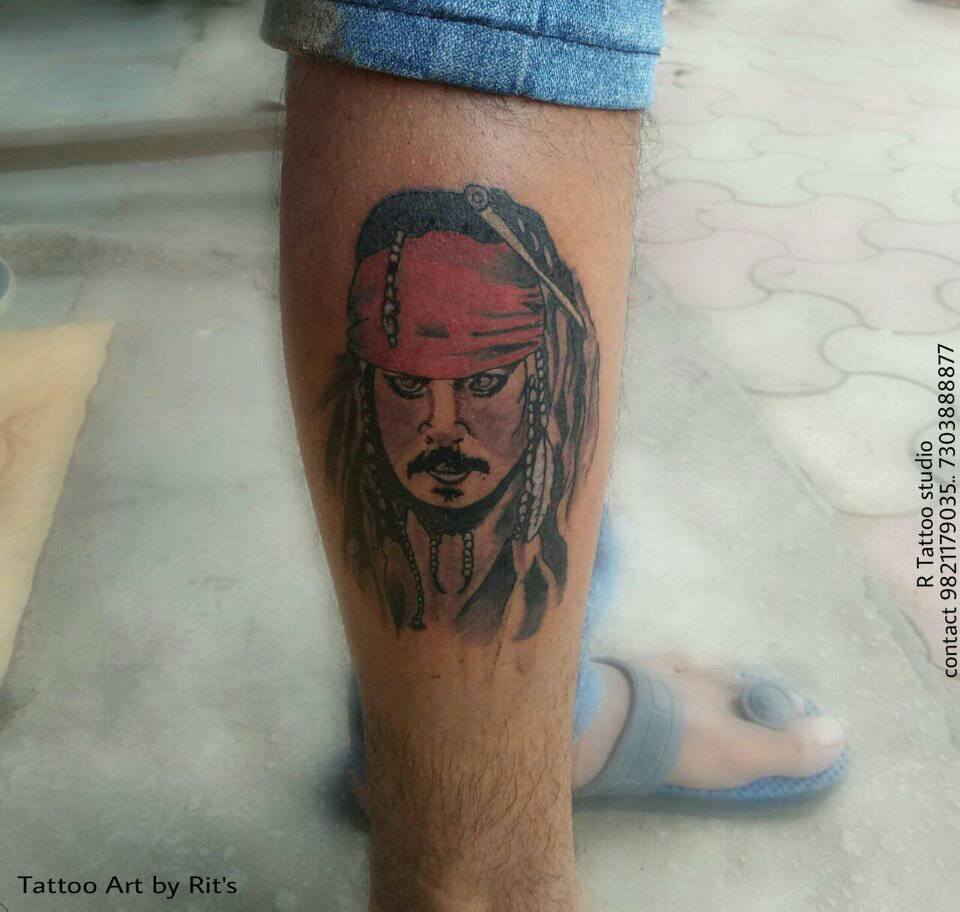 Pirates of the Caribbean – Jack Sparrow Portrait Tattoo
