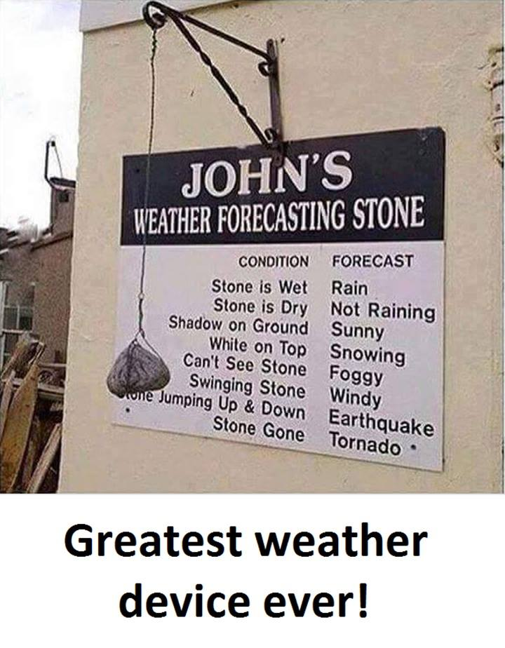 Great Weather Device Ever – Weather Forecasting Stone