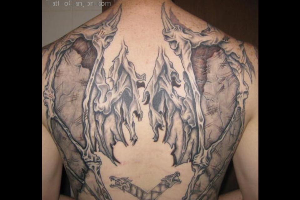 angel devil shoulder tattoo - photo #36