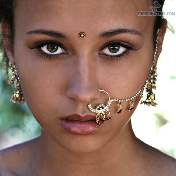 Indian Girl With Giant Nose Ring Nostril Piercing