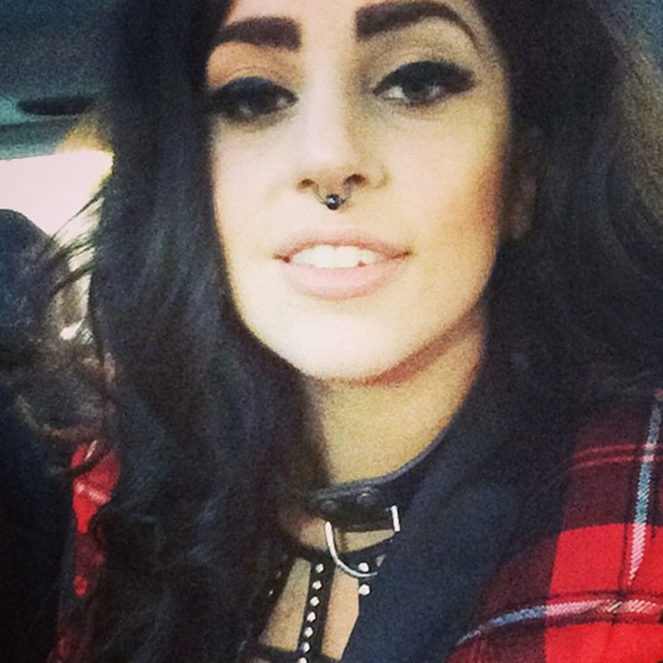 Lady Gaga Nasal Septum Piercing With Black Ball Closure Ring