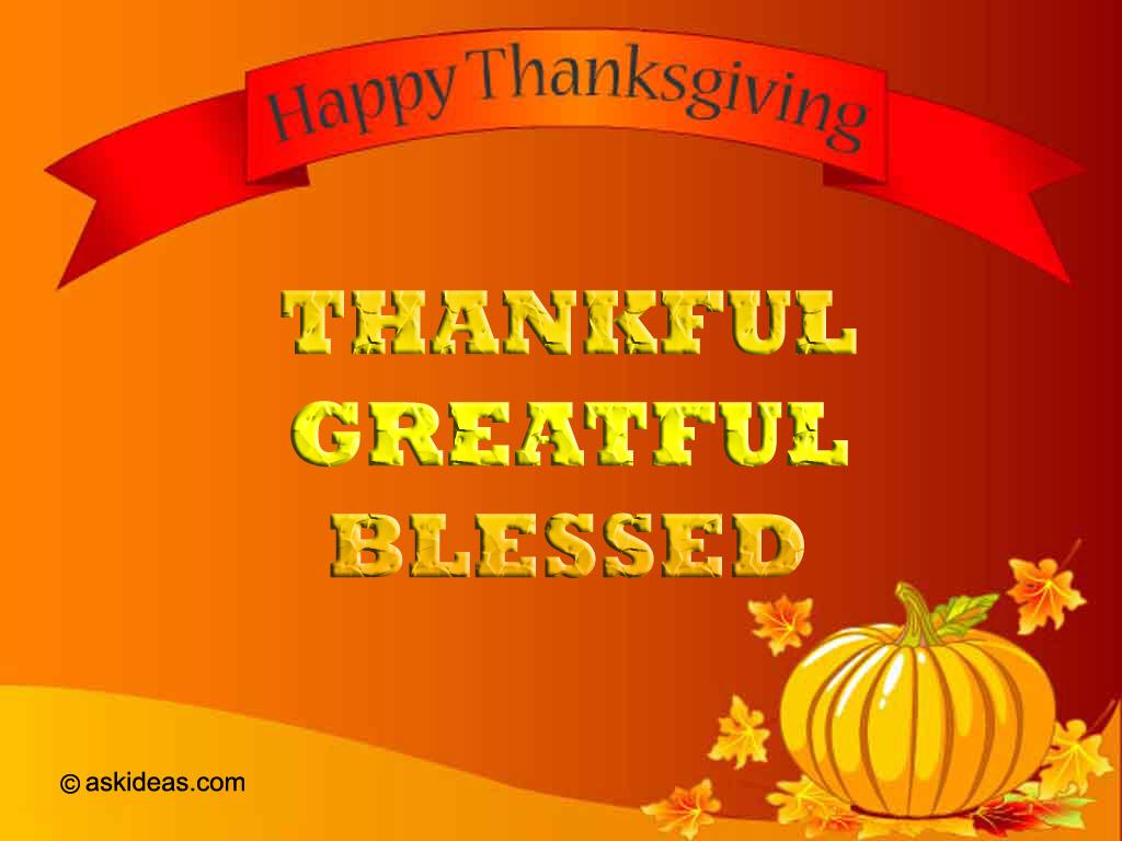 100% Free Thanksgiving Greeting Ecard