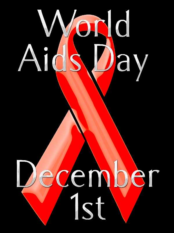 World Aids Day December 1 Red Ribbon Symbol In Background