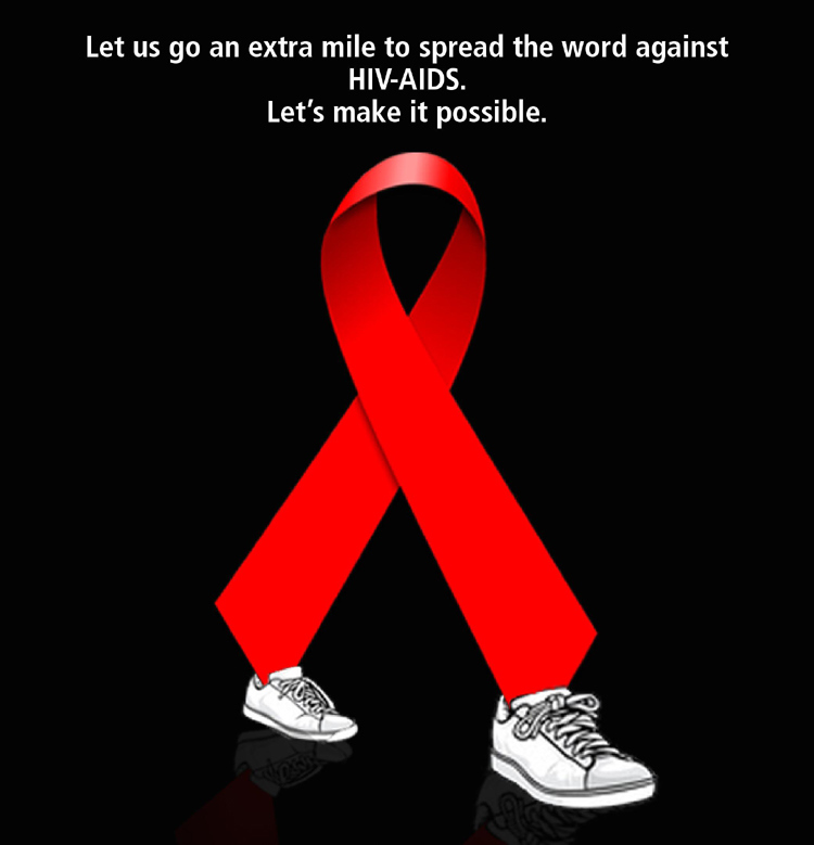 World Aids Day Symbol With Shoes Picture