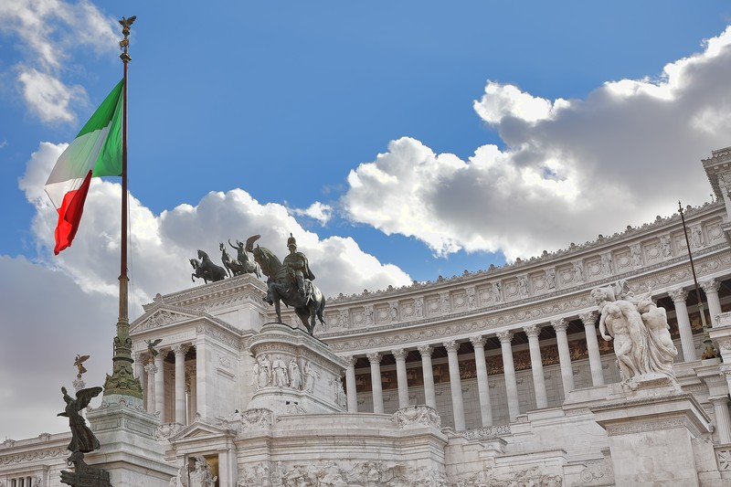 Adorable Side View Of the Victor Emmanuel II Monument