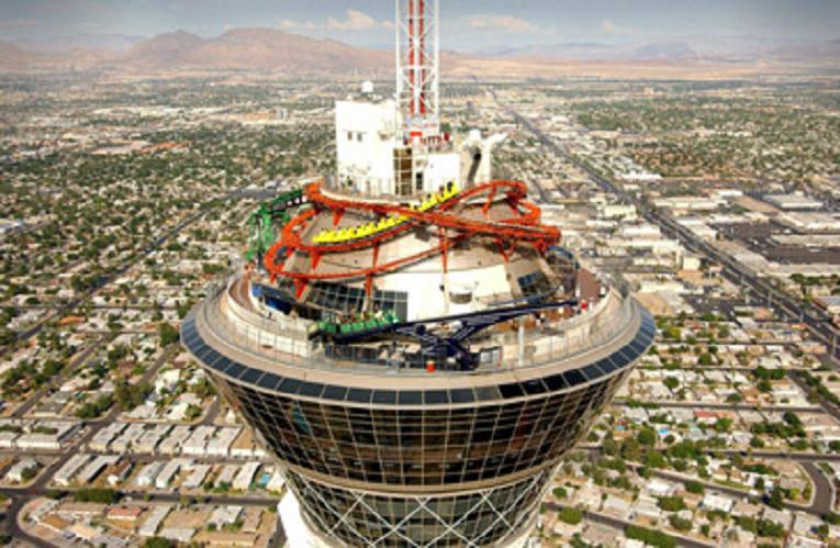 Aerial View Of Stratosphere Tower