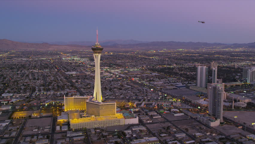 Aerial View Of The Stratosphere Tower Hotel And Casino