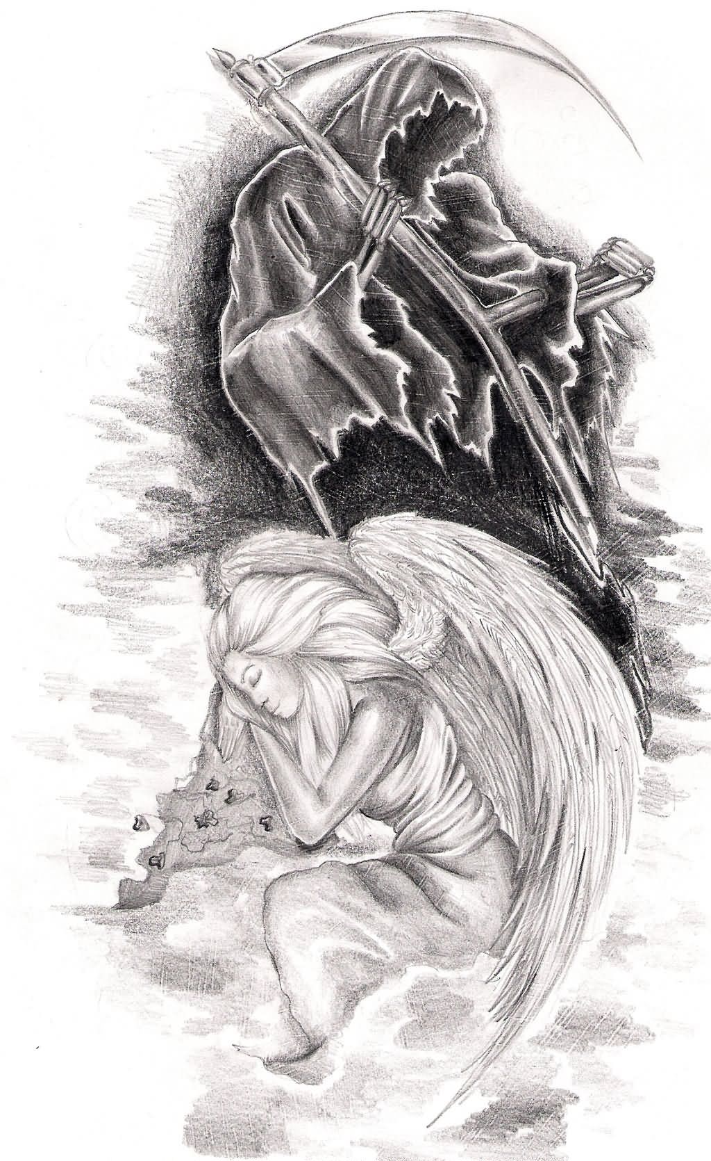 Angel death angel tattoo design by natyne on deviantart