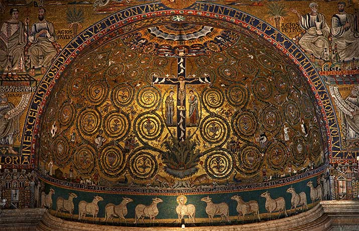 Apse Mosaic Inside The Basilica of San Clemente