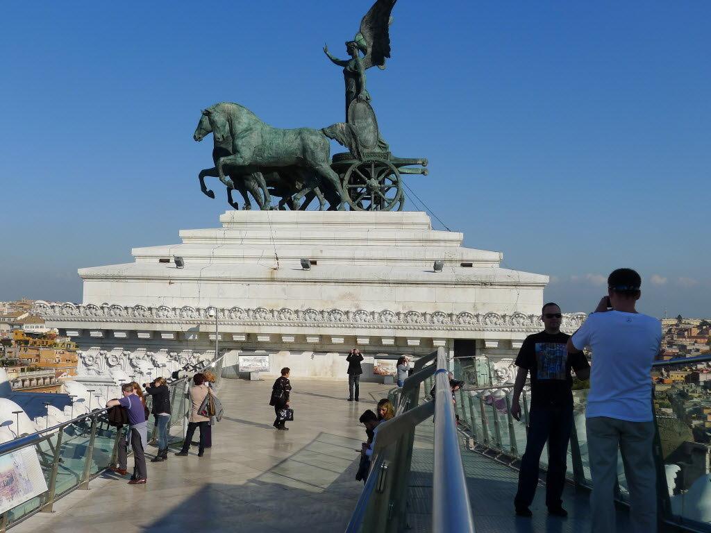 Atop Victor Emmanuel II Monument