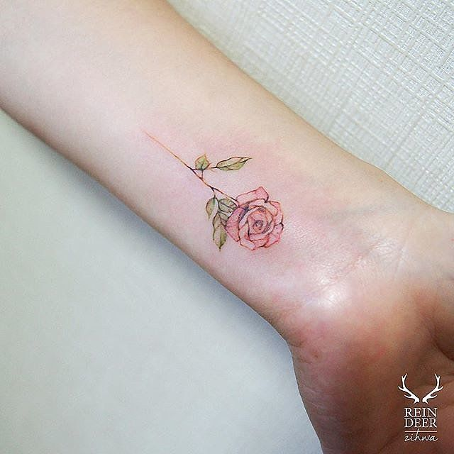 Pink rose tattoos tumblr images for Small rose tattoo tumblr