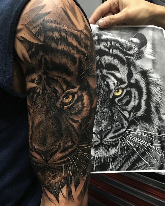 100+ Best Tiger Tattoos, Designs & Ideas With Meanings - photo#19