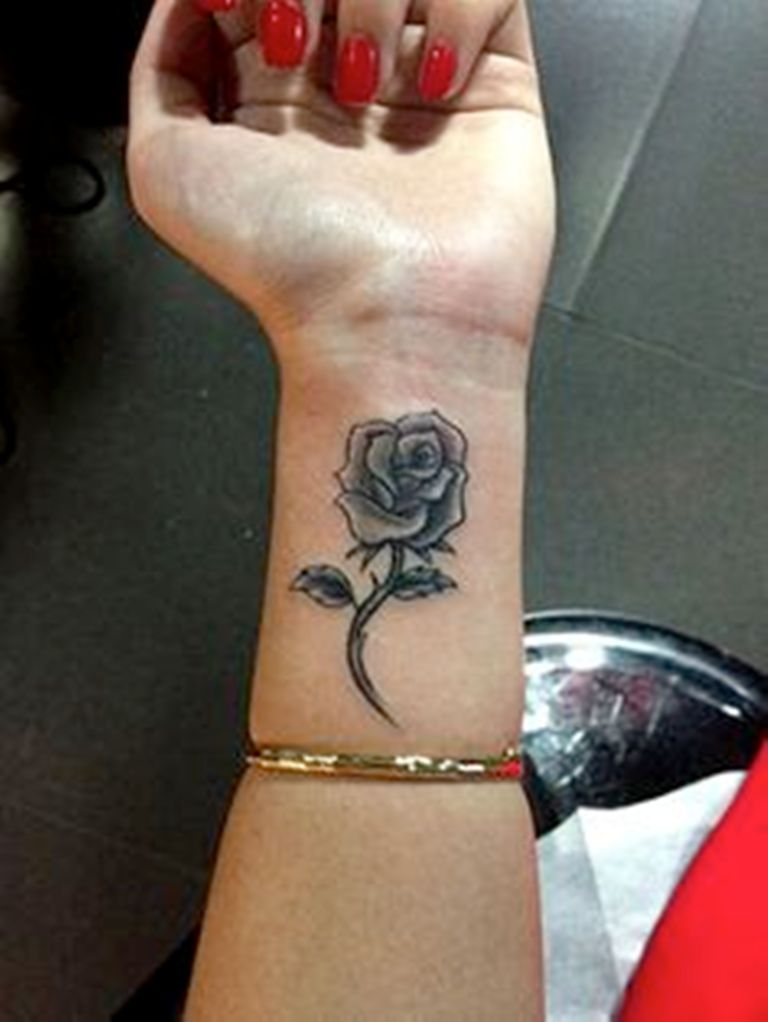 21 Small Rose Tattoo On Wrist Designs Images