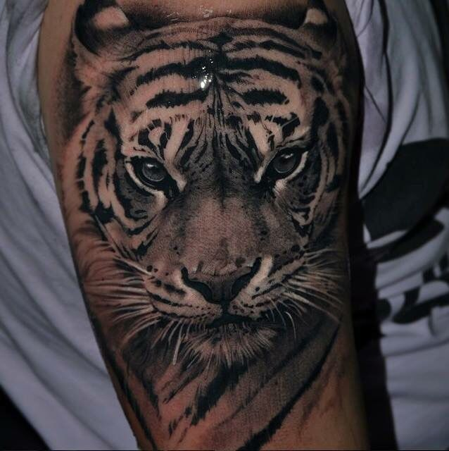 100 best tiger tattoos designs ideas with meanings. Black Bedroom Furniture Sets. Home Design Ideas