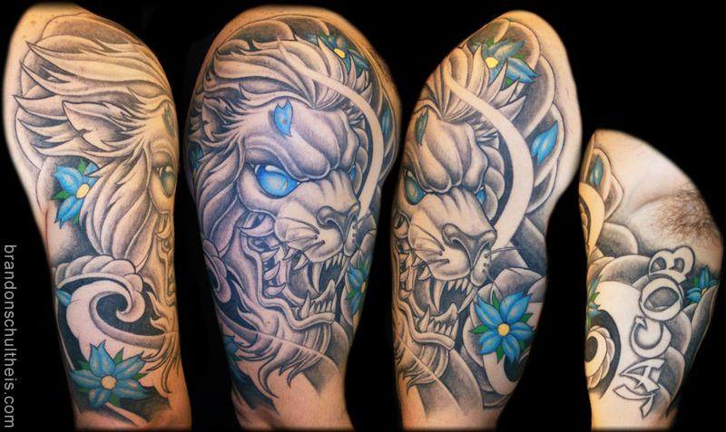 36 Japanese Lion Tattoos Designs Ideas