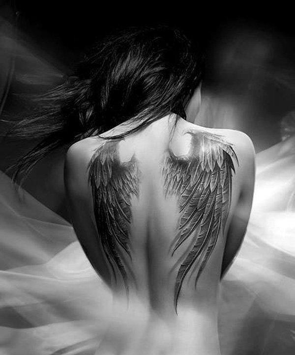 Картинка девушка с крыльями ангела со спины