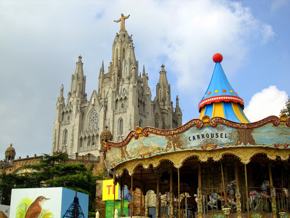 Carrousel At Tibidabo Hill In Barcelona, Spain